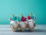 Einhörner im Eierkarton. © GettyImages