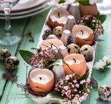 Teelicht in Eierschalen. © GettyImages